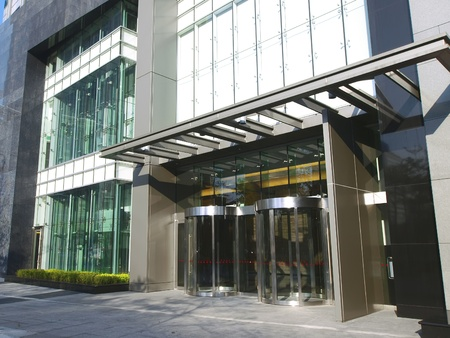 Entrance of modern building photo