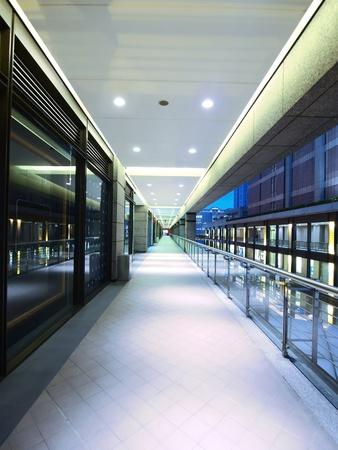 Long corridor in modern building Stock Photo