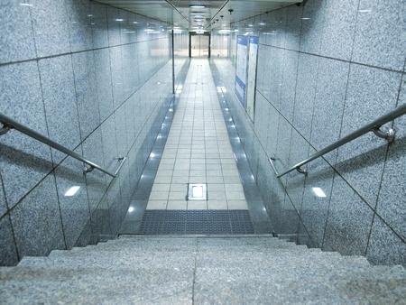 Stair in underground passage photo