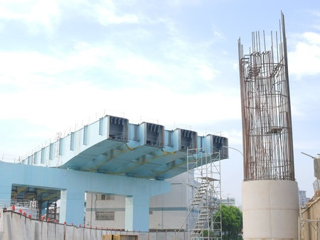 Bridge under construction  photo