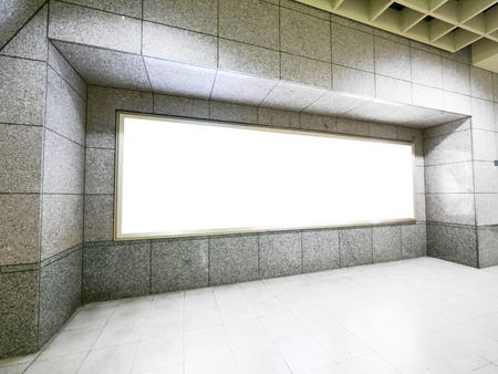 billboard blank: Blank billboard in modern building