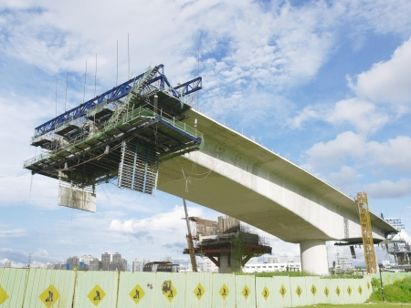 Pont en construction Banque d'images