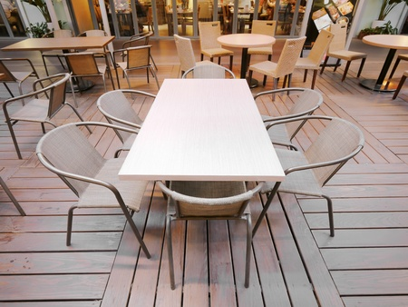Table and chair in restaurant Stock Photo - 12777223