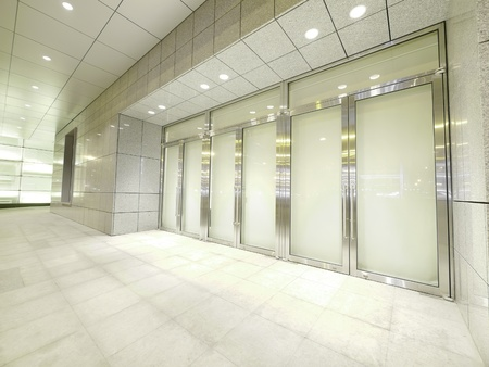 aluminium wallpaper: Door and walkway Stock Photo