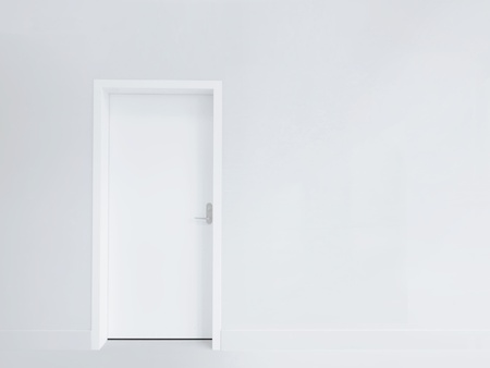 White door and blank wall Stock Photo - 12777156