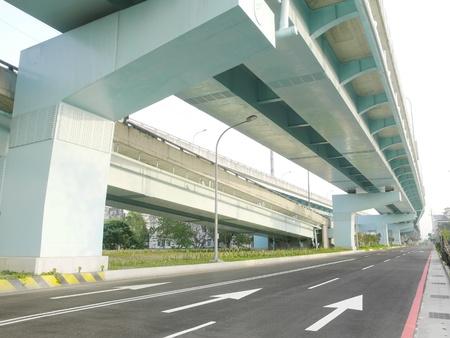 Bridge and roadway in city photo
