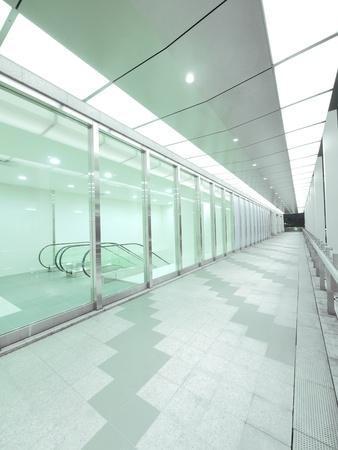 Bright long walkway