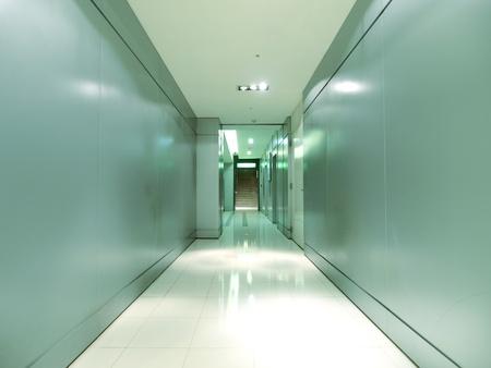 Corridor in modern building photo