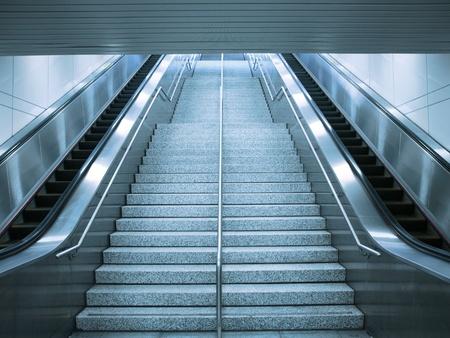Escalator and stair photo