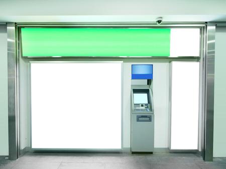 automatic transaction machine: Billboard y cajero automático