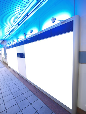 Light wall in underground passage photo