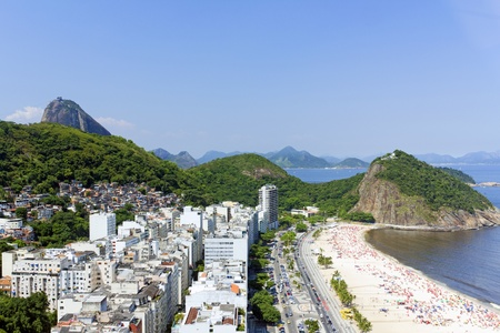 View of Copacabana beach in Rio de Janeiro Stock Photo