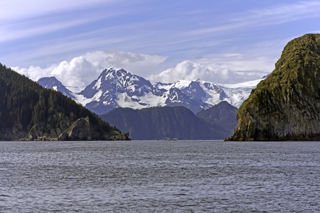 alaskan: Ressurection  Bay near Seward in Alaska Stock Photo