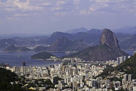 Aerial Viw of Sugar Loaf in Rio de Janeiro