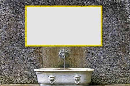 Advertisement  background on Classic Scenery photo