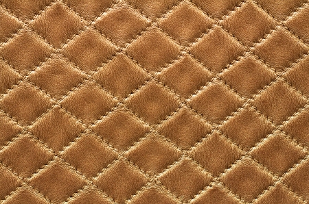 Brown leather backgroun rhombus pattern