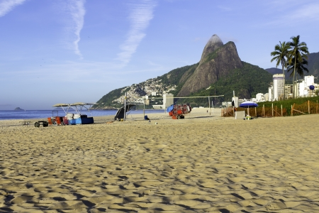View of Ipanema Beach in the early morning Stock Photo
