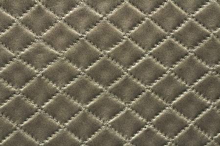 Silver leather background rhombus pattern photo