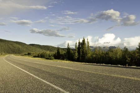 Alaska Highway in the late afternoon photo