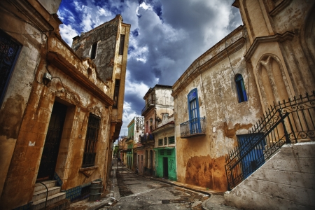 havana: Old part of Havana,Cuba Stock Photo