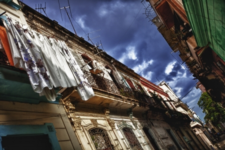 Buildings in old part of Havana,Cuba photo