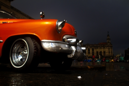oldtimer: Old colorfull car in the street of Havana,Cuba