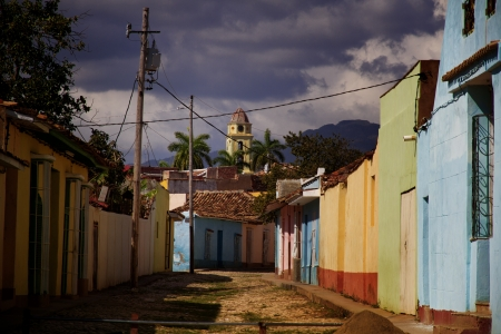 Colonial buildings in Trinidad,Cuba