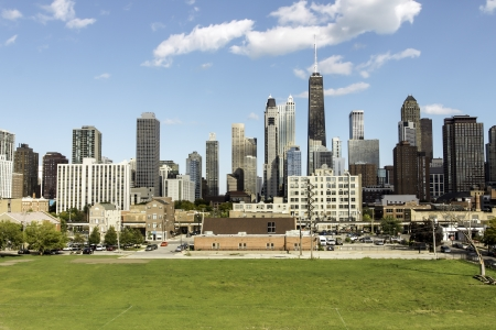 property: Aerial view of city of Chicago