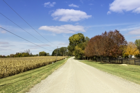 American countryside gravel road photo