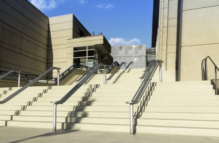 Stairs to office building in the late afternoon Stock Photo - 15837695