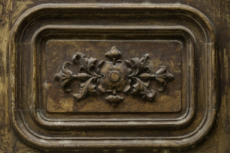 Detail wooden door ornament Stock Photo - 16077355
