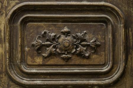 Detail wooden door ornament Stock Photo - 16077355