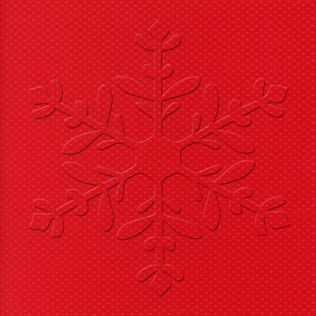 Christmas red background against beveled snow pattern photo
