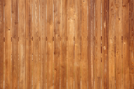 Close up of vertical  wooden fence panels photo