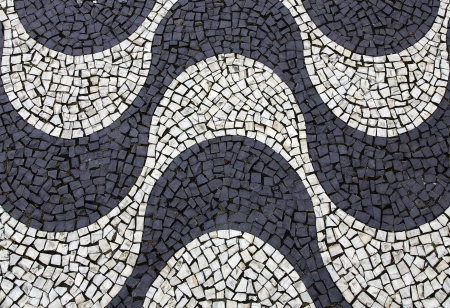 mosaic floor: Background of Copacabana sidewalk