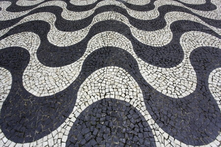 mosaic floor: Aerial view of Copacabana sidewalk mosaic Stock Photo