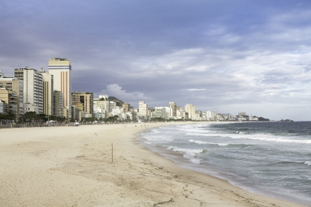 Afternoon view of Ipanema Beach  in Rio de Janeiro photo