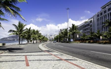 Road by Ipanema Beach in Rio de Janeiro, Brazil photo