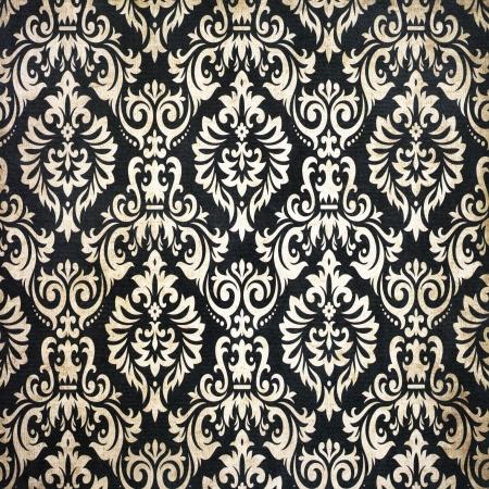 textile image: Black vintage background pattern Stock Photo