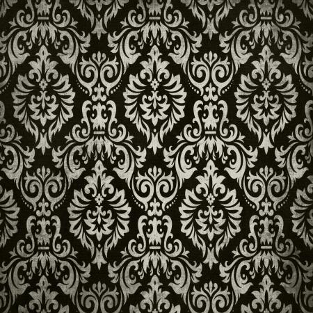 grey pattern: Black vintage background pattern Stock Photo