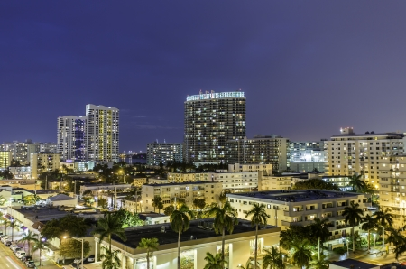 Miami south beach night street view  photo