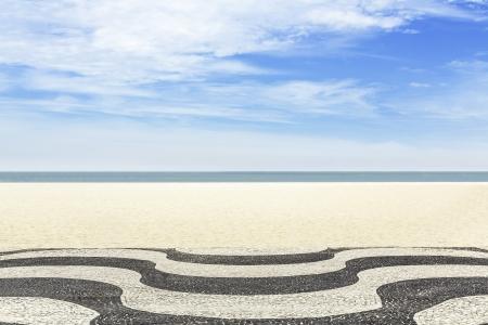리우 데 자네이루, 브라질의 코파카바나 해변에 모자이크 스톡 콘텐츠 - 19525535