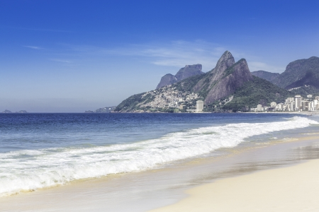 Ipanema Beach in the morning in Rio de Janeiro, Brazil photo
