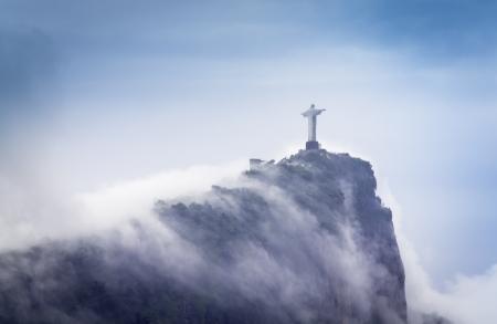 Christ the Redeemer in clouds,  Rio de Janeiro, Brazil