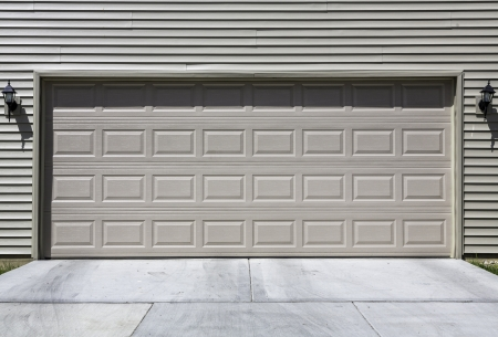 Two car siding garage photo