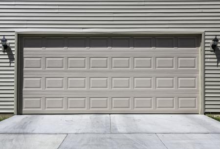two car garage: Two car siding garage