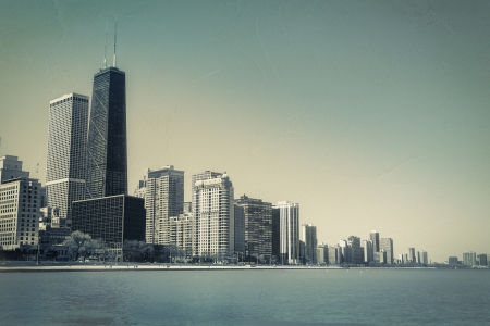 Downtown of Chicago vintage view Stock Photo - 19937529