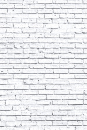 brick: White fogy brick wall for background or texture Stock Photo