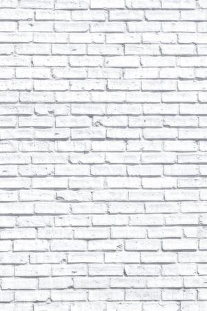 Witte fogy bakstenen muur voor achtergrond of textuur Stockfoto - 20167495