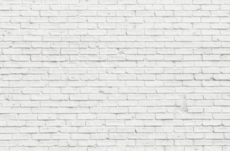 White brick wall for background or texture